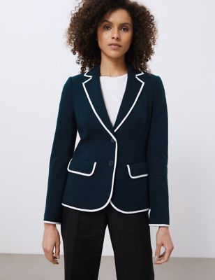 Single Breasted Tailored Jersey Jacket