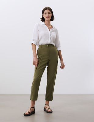 Tencel™ Utility Slim Fit Trousers