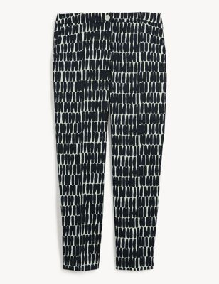 Cotton Printed Tapered Trousers