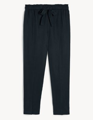 Pure Tencel™ Paperbag Tapered Trousers