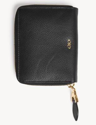 Leather Zip Around Purse