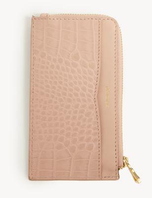 Leather Croc Effect Cardholder