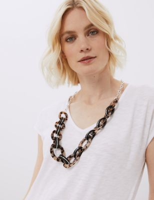 Tortoise Shell Chunky Necklace