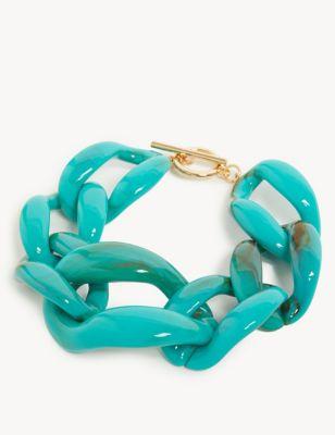 Resin T-Bar Bracelet