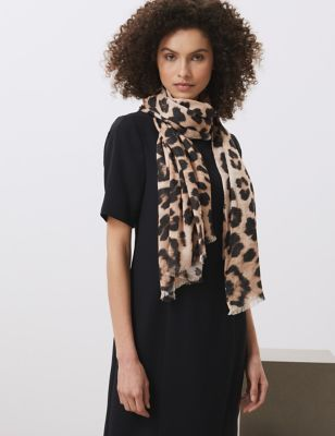 Pure Modal Leopard Print Scarf