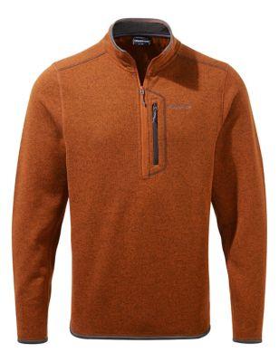 Half Zip Fleece Top
