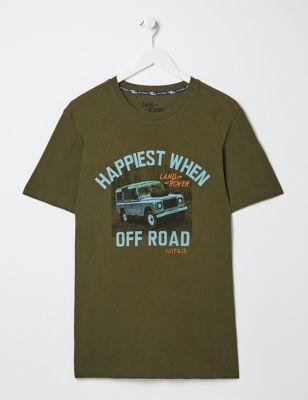 Pure Cotton Graphic Slogan T-Shirt