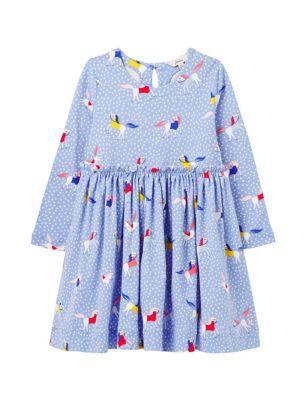 Pure Cotton Pony Dress (2-8 Yrs)