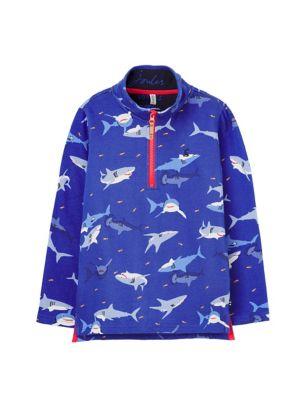 Organic Cotton Shark Print Sweatshirt (2-8 Yrs)