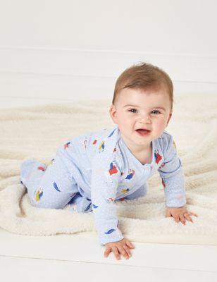 Organic Cotton Floral Sleepsuit (7lbs - 12 Mths)