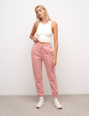 Organic Cotton Embroidered Cuffed Joggers