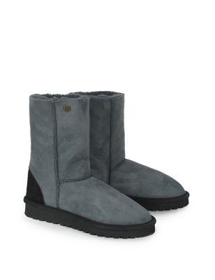 Pure Sheepskin Flat Mid-Calf Boots