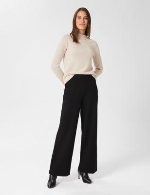 Elasticated Waist Wide Leg Trousers