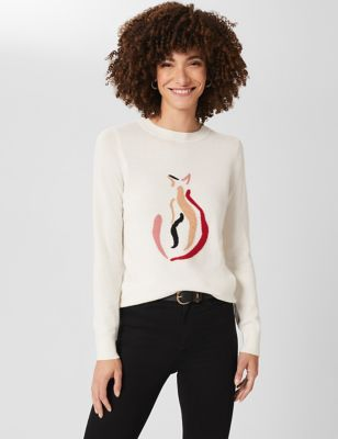 Merino Wool Cat Jumper with Cashmere