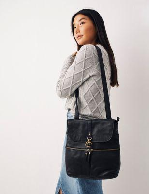 Leather Multi Pocket Backpack