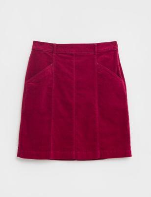 Cotton Mini A-Line Skirt