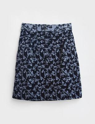 Organic Cotton Floral A-Line Skirt