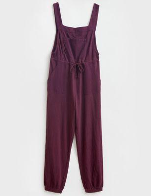 Pure Cotton Drawstring Jumpsuit