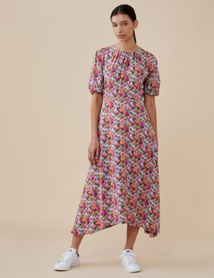 Floral Midi Relaxed Swing Dress