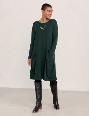 Organic Cotton Swing Dress with Wool