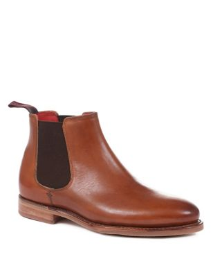 Leather Chelsea Flat Ankle Boots