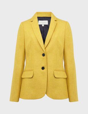 Pure Wool Single Breasted Blazer