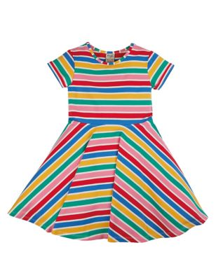 Organic Cotton Rainbow Striped Dress (6 Mths -5 Yrs)