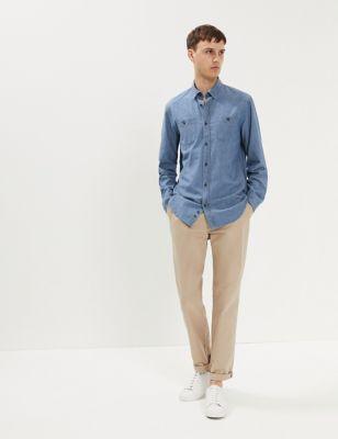 Pure Cotton Chambray Shirt