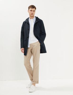 Cotton Technical Hooded Parka Jacket