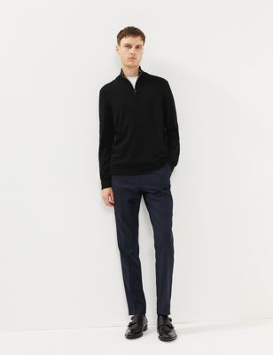 Pure Merino Wool Half Zip Jumper