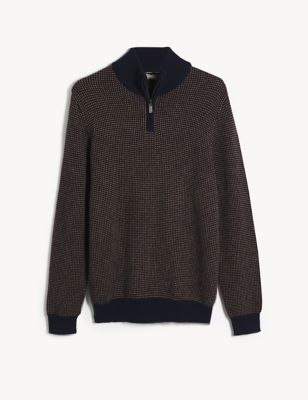 Wool Funnel Neck Jumper with Cashmere