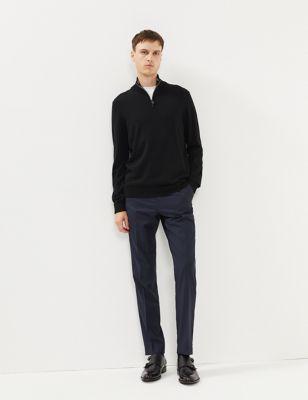 Slim Fit Wool Trousers