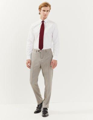 Slim Fit Italian Wool Trousers