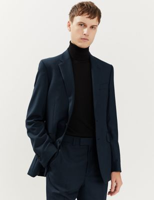 Tailored Fit Pure Wool Textured Jacket