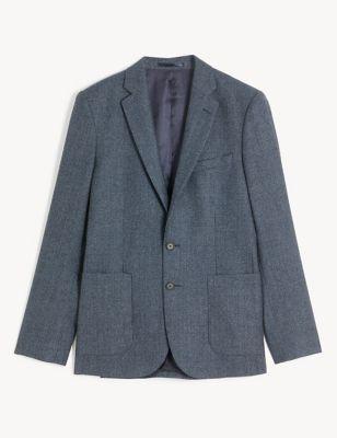 Slim Fit Italian Wool Puppytooth Jacket
