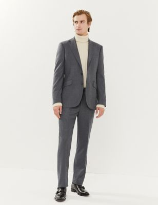 Tailored Fit Italian Wool Trousers