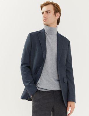 Tailored Fit Italian Wool Textured Jacket