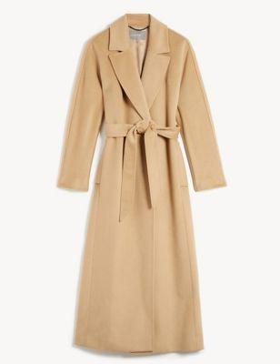Pure Wool Longline Wrap Coat
