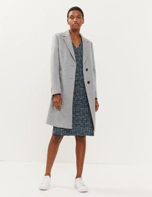 Pure Wool Boyfriend Coat