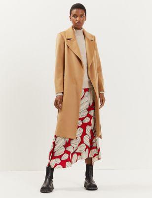 Pure Wool Belted Longline Coat