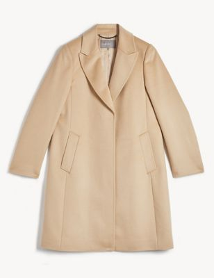 Pure Wool A-Line Coat