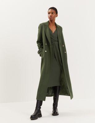 Pure Wool Longline Utility Wrap Coat