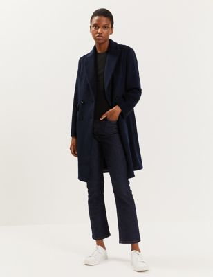 Pure Wool Double Breasted Tailored Coat