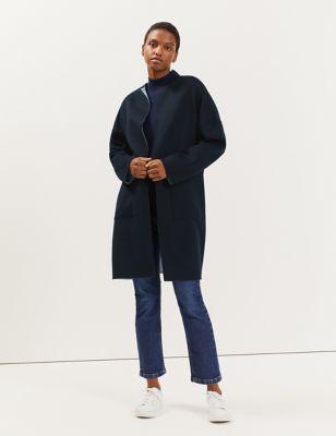 Pure Wool Reversible Cocoon Coat