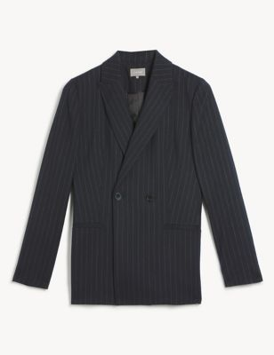 Wool Relaxed Double Breasted Blazer