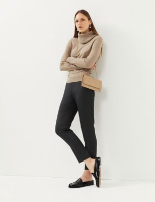 Women's Wool Tapered Trousers