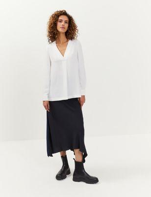 Colour Block Midi A-Line Skirt