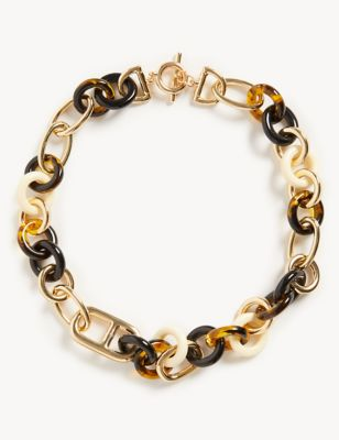 Tortoise Shell Link Chain Necklace