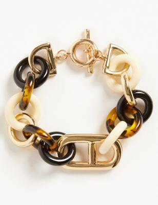 Tortoise Shell Chain Link Bracelet