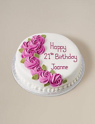 Sponge Cakes Stylish White Vanilla Cake Decorating Idea